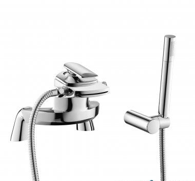 Oshi Surface Mounted Waterfall Bath Mixer Tap with Hand Held Sho
