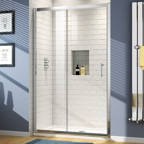 1000mm - 6mm - Elements Sliding Shower Door