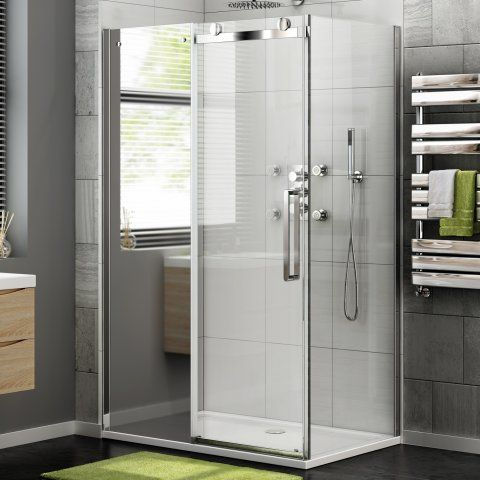 1000x760mm - 8mm - Luxe Frameless EasyClean Sliding Shower