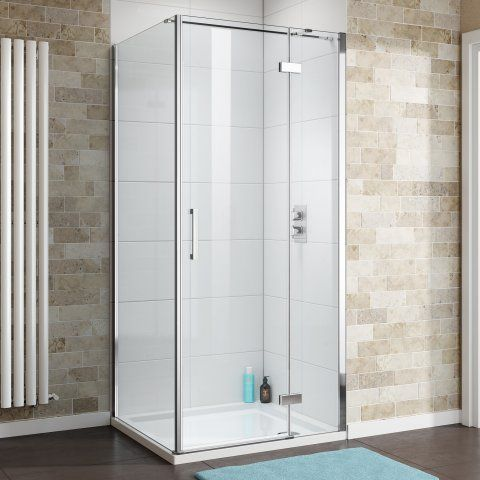 1000x800mm - 8mm - Premium EasyClean Hinged Door Shower Enclosur