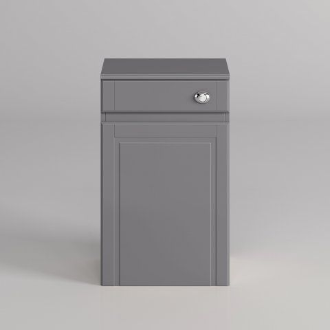 500mm Cambridge Midnight Grey Back To Wall Toilet Unit