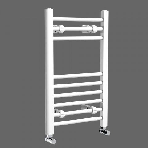White Straight Rail Electric Towel Radiator 650x400mm
