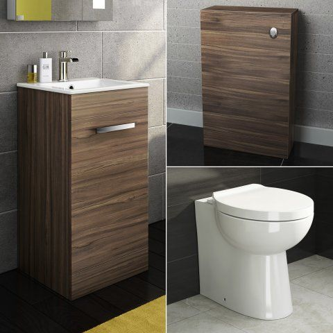 Crosby Toilet, Toilet Unit & 400mm Avon Floor Standing Basin Cab