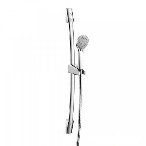 Curved Shower Rail With Multi Function Handheld