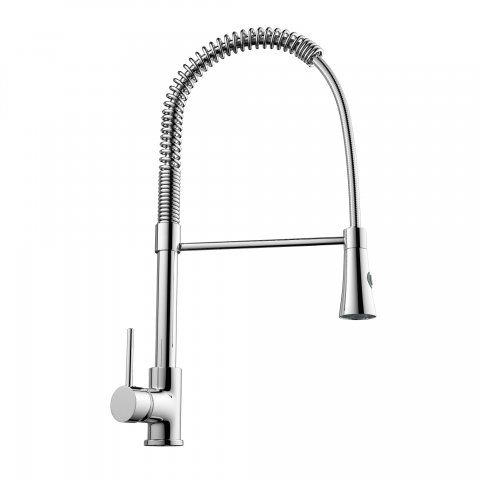 Francesca Chrome Plated Kitchen Mixer Tap - Pull Out Spray