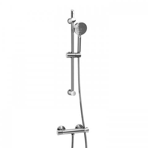 Thermostatic Bar Mixer Kit, Chrome Plated Round Head