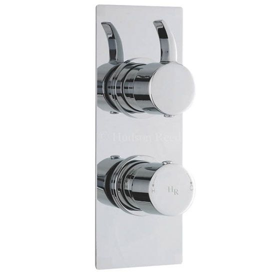 Hudson Reed Grace Twin Concealed Thermostatic Shower Valve with Diverter - Square Plate - GRA3207