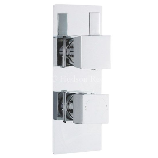 Hudson Reed Harmony Twin Concealed Thermostatic Shower Valve w/ Diverter - HAR3207