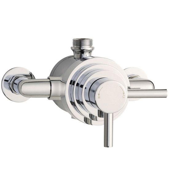 Series F II Dual Exposed Thermostatic Shower Valve - Chrome - JTY026