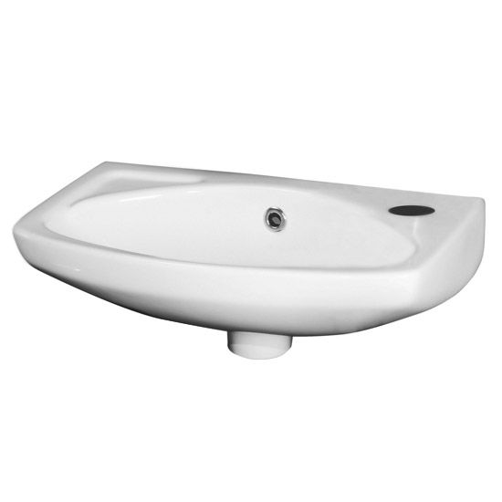 Premier 450mm Wall Hung Cloakroom Basin - 1 Tap Hole - NCU842