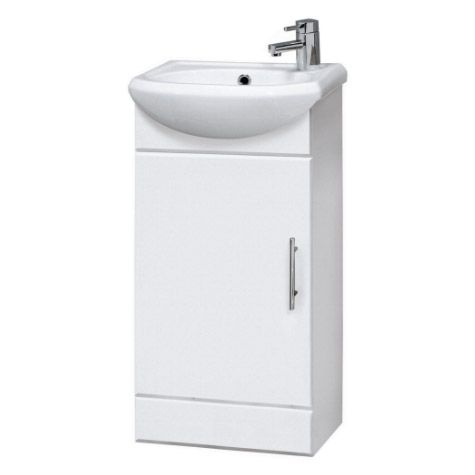 Sienna 420mm Vanity Unit (High Gloss White - Depth 200mm)