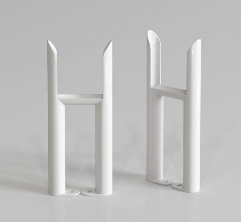 300x72 - Wall Mounting Feet For 3 Bar Radiators - White