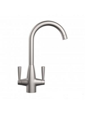 Tinkisso Brushed Steel Kitchen Mixer Taps - Swivel Spout