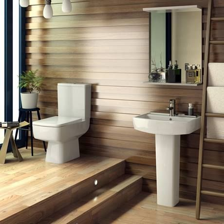 Bliss Modern Square Basin & Pedestal - 1 Tap Hole - 2 x Size Options