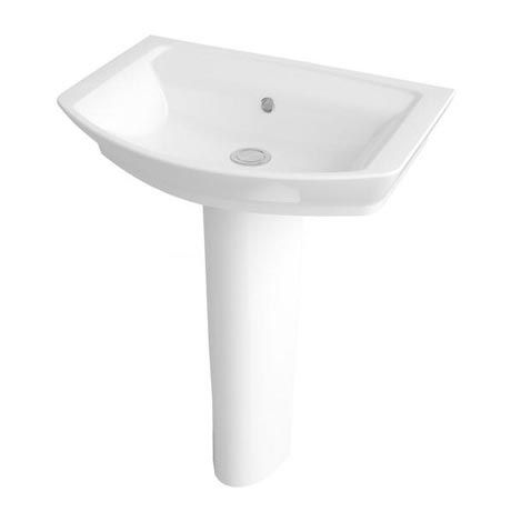 Premier Clara Basin & Full Pedestal (550mm Wide - 1 Tap Hole)