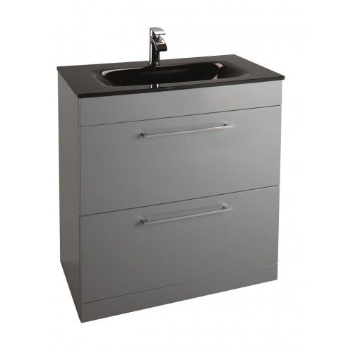 Icon Grey 800mm Free Standing Drawer and basin Unit