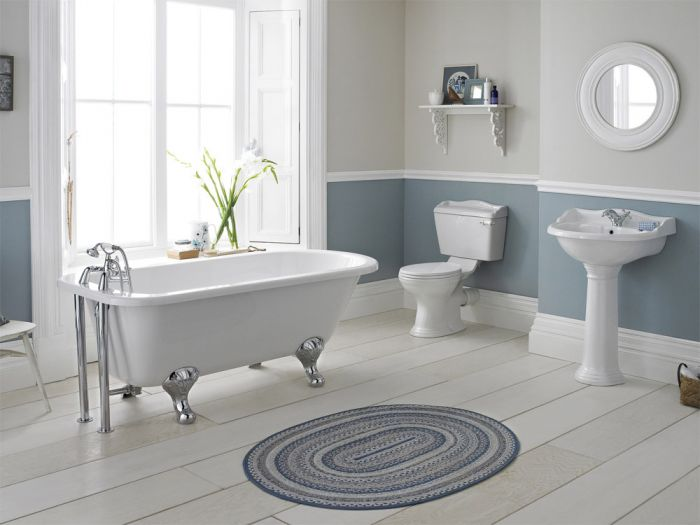 Old London - Chancery Close Coupled Bathroom Suite with Single Ended Bath